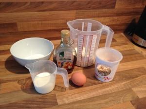 Zutaten Eis mit Ahornsirup und Schoko-Knusper-Müsli