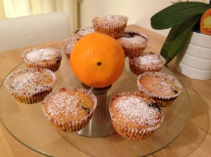 Orangen-Blaubeer-Muffins