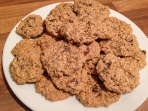 Haferflocken-Cookies mit Rosinen