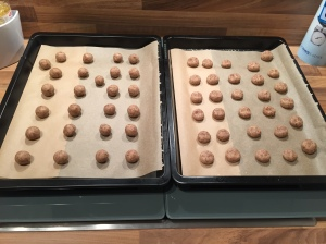 Amarettini vor dem Backen
