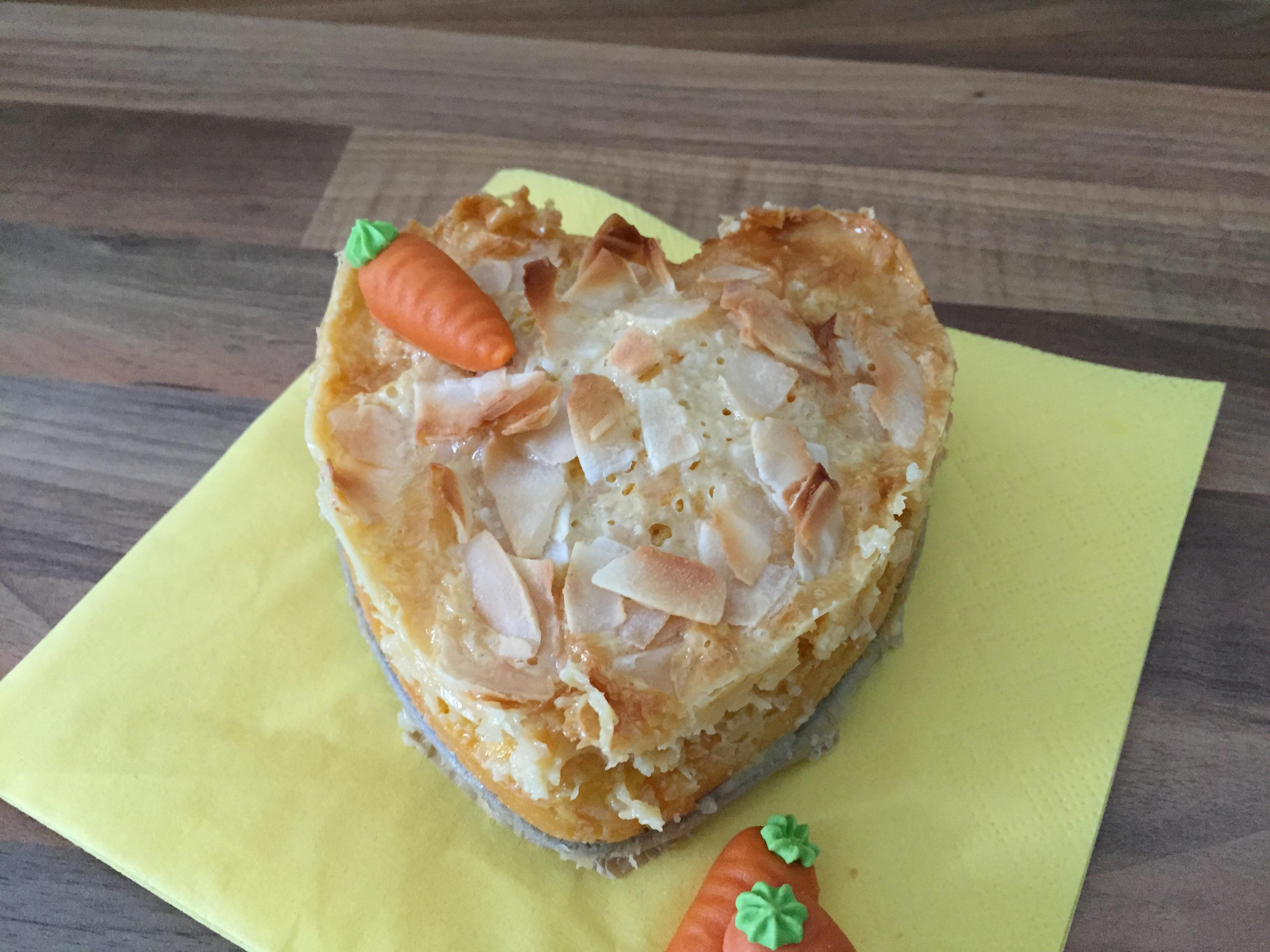 Kokos Karotten Kuchen Mit Milchmadchen Haube Das Muffin Madchen