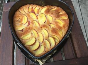 Pfirsichkuchen mit Buttermilch