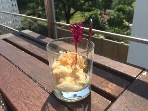 Milchreis-Eis mit einem Hauch Zimt