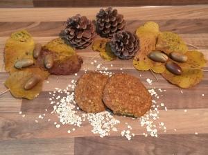 Kürbis-Cookies mit Haferflocken und Walnüssen