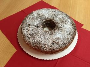Rotweinkuchen mit einem Hauch Schokolade