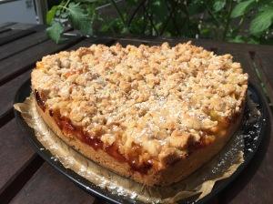 Pfirsich-Aprikosen-Knusper-Streuselkuchen