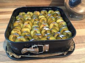 "saftiger Pflaumen-Streuselkuchen mit Quark-Öl-Teig"""