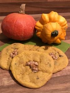 Kürbis-Zimt-Cookies mit Walnüssen