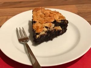 saftiger Schoko-Florentiner-Knusper-Kuchen