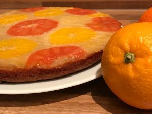 winterlicher Citrus-Upside-Down-Kuchen